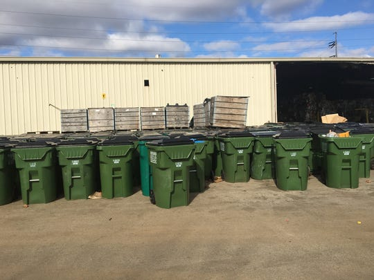 All in One Recycling facility at 824 Industrial Blvd. in Murfreesboro has full cans sitting all over the property.