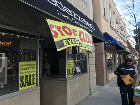 The Millburn jewelry store Bedazzeled is closing. The owner blames a decline in business in part on a remake of streets in the downtown.