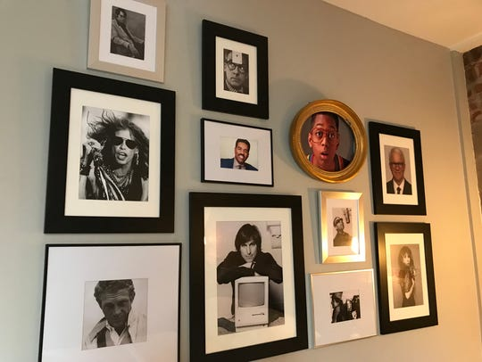 The wall of pictures of famous 'Steves' in the Steve