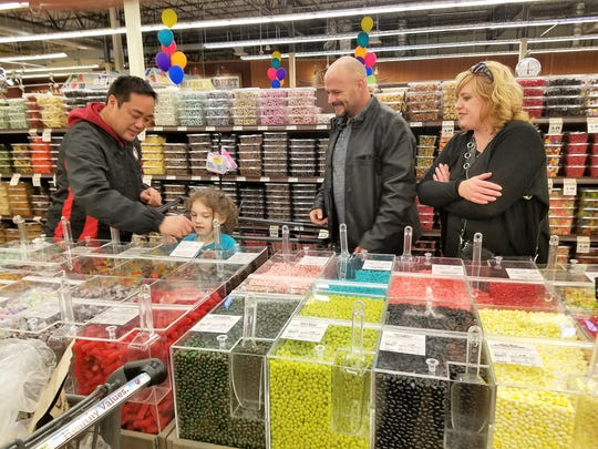 Bulk candies are a big thing at Fresh Thyme Farmers Market including these bright Jelly Belly jelly beans.