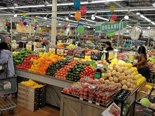 """With a motto of """"farm fresh foods, farm stand prices,"""" Fresh Thyme Farmers Markets pride themselves on a large produce section with affordable organic and natural fruits and vegetables."""