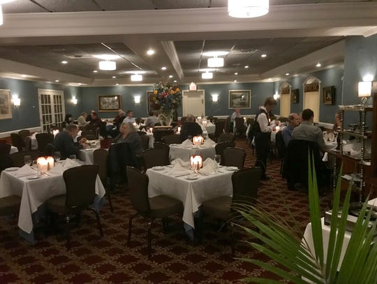 The dining room at LaStrada Ristorante in Randolph.