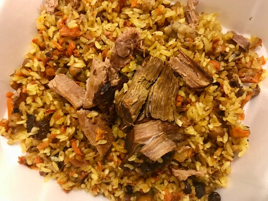 Uzbek palov, or pilaf, from Silk Road in south Fort Myers.