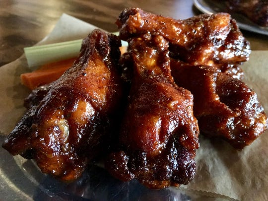 The Germantown sweet-hot wings at Germantown Pub in — you guessed it — Germantown