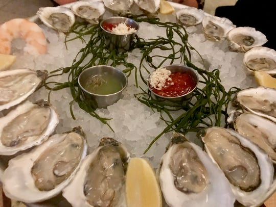 The oyster plate at The Oyster Bar at Jockey Hollow,