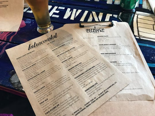 Visit Intracoastal Brewing Company in Eau Gallie, and you'll get one menu for beer and another for food.
