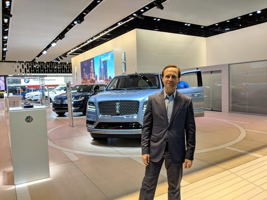 Lt. Gov. Brian Calley stands in front of the 2018 Truck