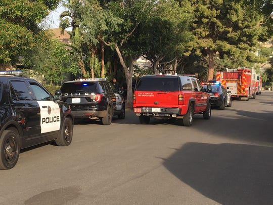 Ventura police and fire responded to a report of an explosion in the 100 block of North Evergreen Drive at around 8 a.m. Monday.