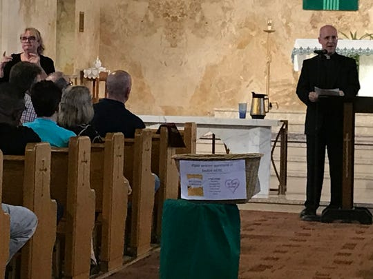 The Rev. James Martin spoke to a group of 500 or so, without incident, in July at The Church of the Sacred Heart in South Plainfield.