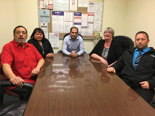 A $1,500 grant was awarded to Community Support Services in Port Clinton to assist the homeless. The nonprofit agency's staff includes, from left, David Castillo, Heather Lopez, Cole Hatfield, Sandy Fandrich, and David Franks.