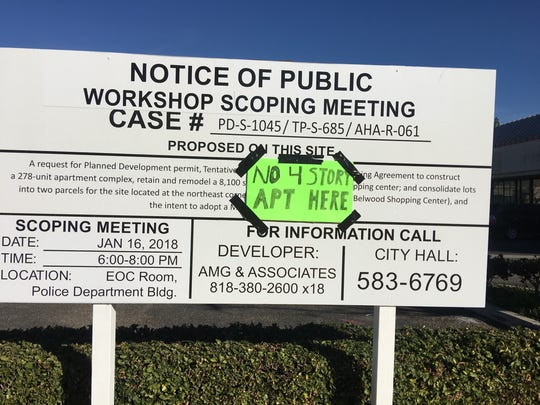 Community opposition is growing in Simi Valley to a proposed four-story, 278-unit apartment complex near residential neighborhoods.