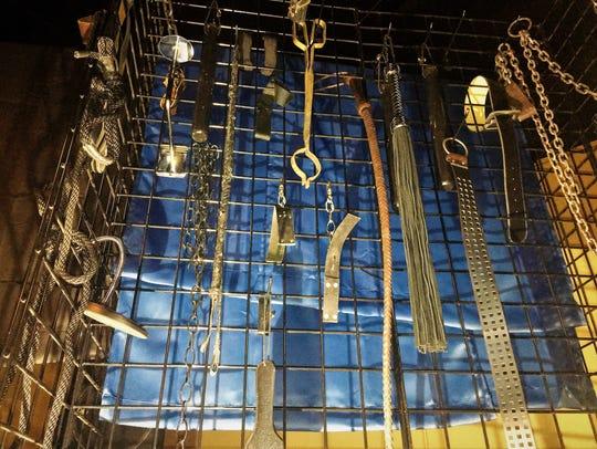 """Bondage props for Shreveport Opera's """"Art After Dark"""""""