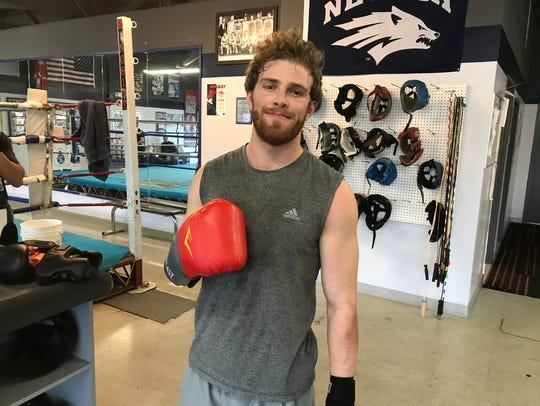 Zach Smith is a senior on the Nevada boxing club team.
