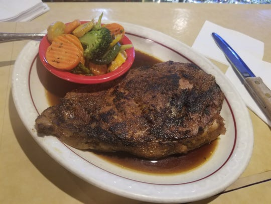 Traditional barbecue isn't the only delicious meat you can expect at Ashley's. The restaurant has offers steaks and prime rib.
