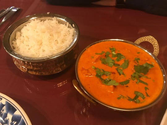 Chicken tikka masala at Everest Restaurant in Des Moines.