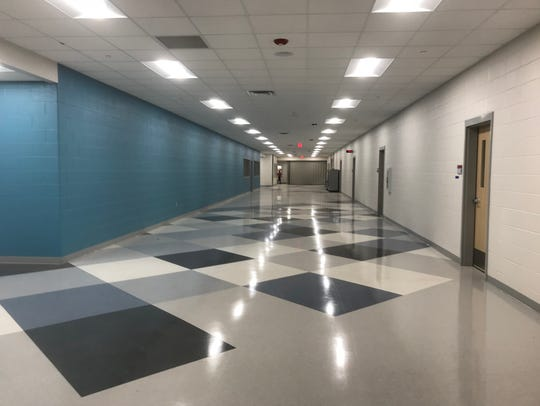 This new hallway is part of Robstown Early College