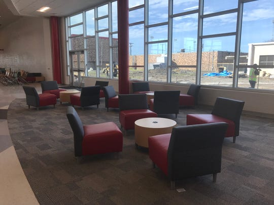 Robstown Early College High School has this new common area. It used to be part of the school's outdoor wings.