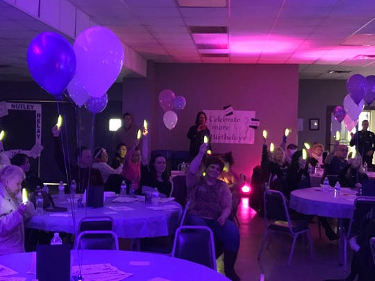 The Luminaria Ceremony honors and remembers people stricken with cancer. The ceremony happened during Nutley's Relay for Life fundraising kickoff on Feb. 1, 2018, at the municipal Parks and Recreation Department. The American Cancer Society benefit occurs May 18, 2018.