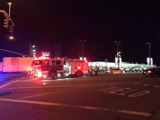 Redding Police investigate a two-vehicle wreck reported