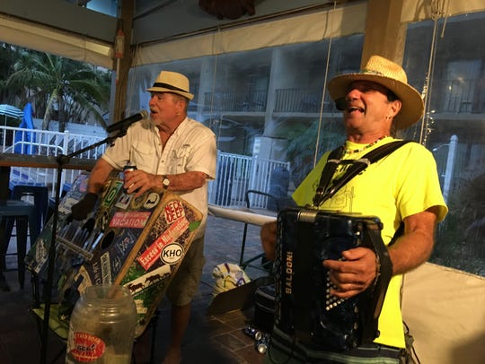 "Accordionist ""Yard Dog"" Charlie Kuchler plays ""Florida"