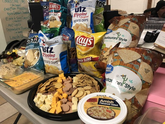 The Chambersburg Cold Weather Drop-in Shelter on West Loudon Street held a Super Bowl party for its residents the evening of Sunday, Feb. 4. During the event, those staying in the shelter could watch the Super Bowl and enjoy a variety of different game day foods.