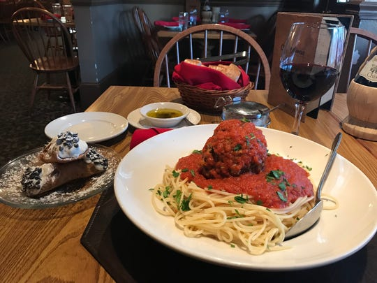 Angelina's also serves up traditional 1-pound meatballs to go with its spaghetti and cannoli.