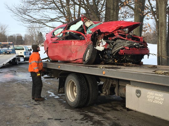 The driver of a Ford Focus was severely injured in a head-on crash in Ashland County on Tuesday, Feb. 6, 2018. The driver of the other vehicle, a Chevy Silverado, had minor injuries and was not transported to the hospital.