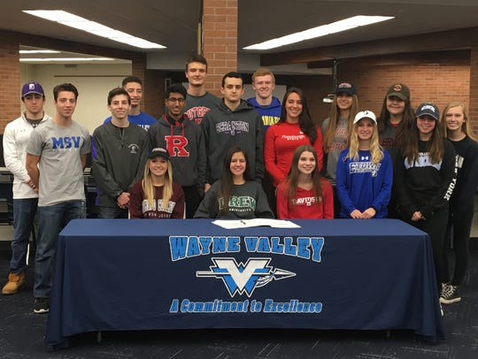 Wayne Valley student athletes together for National