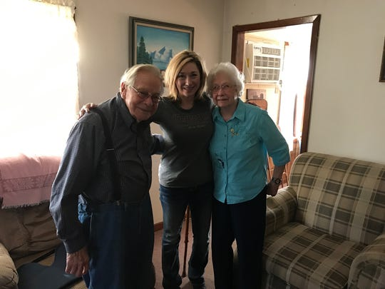 Sonny and Micky Murphy at their home in Casa with their grand-niece Debby Eubanks, the columnist's mother, on Nov. 24, 2017.