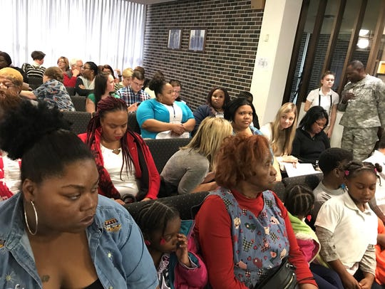 Some parents attended Tuesday's school board meeting