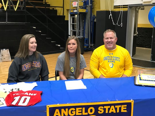 Maddie Kyle of Rider signed Wednesday to play college soccer at Angelo State University. Her brother, Hunter, also went from Rider to ASU.