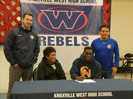 West's Bill Hadam signs a letter of intent to play