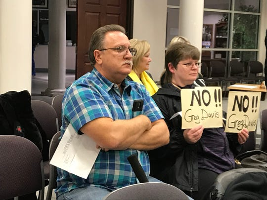 Jim and Tina Stacy, Horn Lake residents. say Greg Davis' problems in Southaven should make him ineligible to be Horn Lake's city planner.