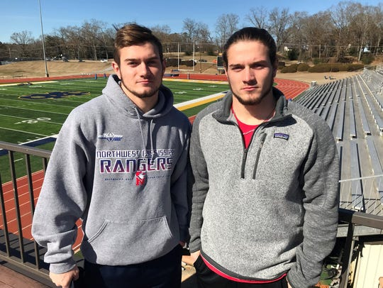 Cole and Turner Rotenberry at a Mississippi College