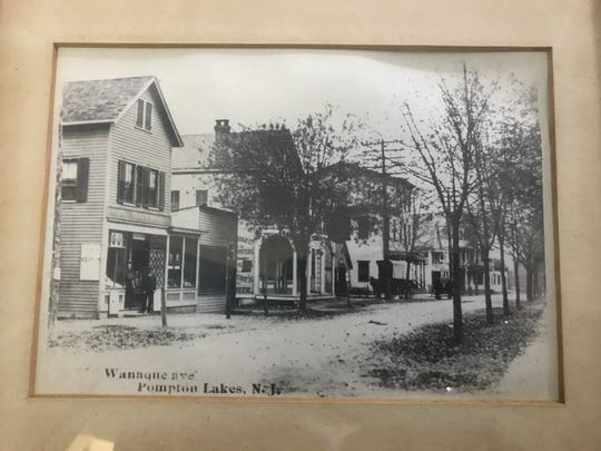 An undated historic photograph of Wanaque Avenue in Pompton Lakes, N.J. from the collection of the Pompton Lakes Historic Preservation Commission.