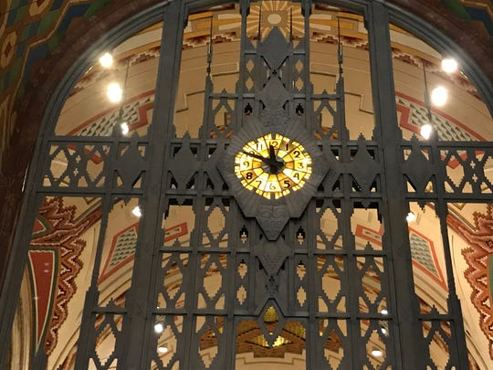 This grand Tiffany clock lives inside the iconic Guardian