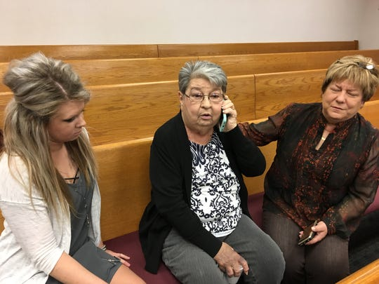 Amanda Jennings, left, is the daughter of Brad Jennings; Freda Jennings is his mother; and Marsha Iler is his sister.