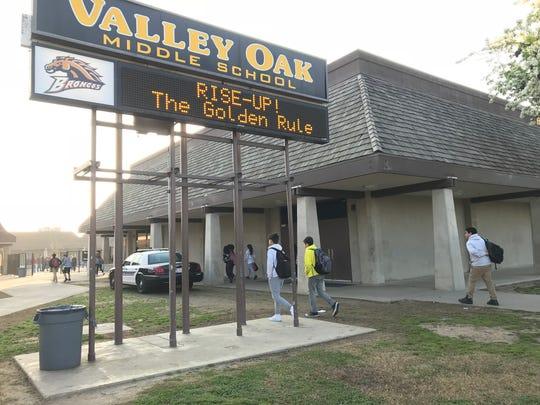 Valley Oak Middle School officials on high alert after social media threats.