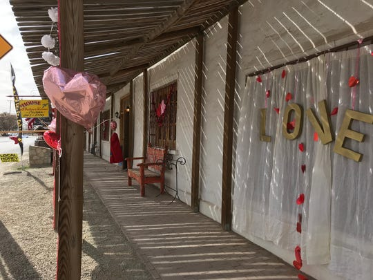 The Placita Madrid in San Elizario is decorated for Valentine's Day and is having a two-day festival this weekend.