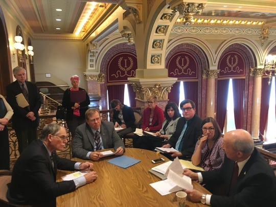 An Iowa Senate subcommittee met Monday to discuss a