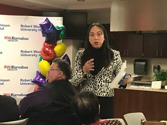 Jackie Baras, RWJUH Quality Nurse Manager, advocate and group facilitator, celebrated the launch ofRobert Wood Johnson University Hospital's Proudly Me! Transgender Edu-port (Education and Support) Program.