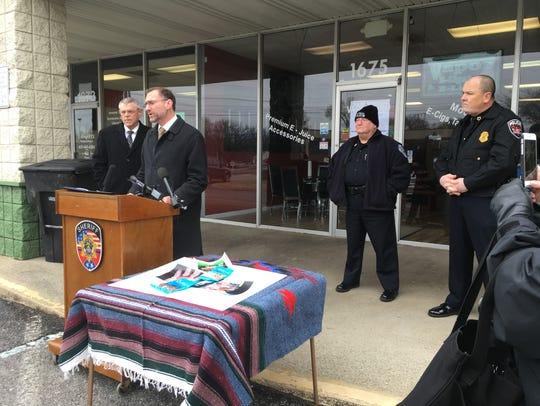 District Attorney General Jennings Jones addresses
