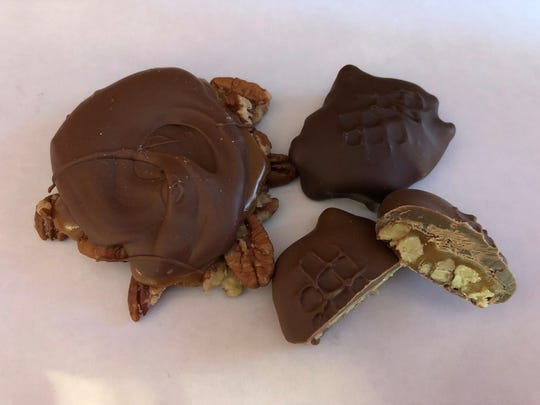 Pecan crabs are a customer favorite at Guth's Candy in Green Lake and Waupun.