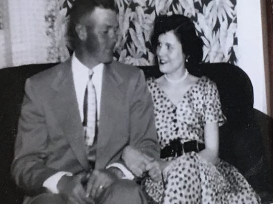 Verne and Alberta Roszel early in their marriage.