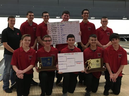 The Woodbridge bowling team won the NJSIAA Group III and Tournament of Champions on Monday, Feb. 12, 2018.