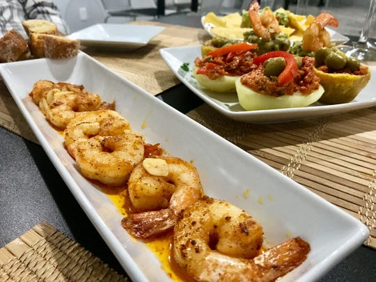 Shrimp in garlic sauce and more tapas from Chuchi's