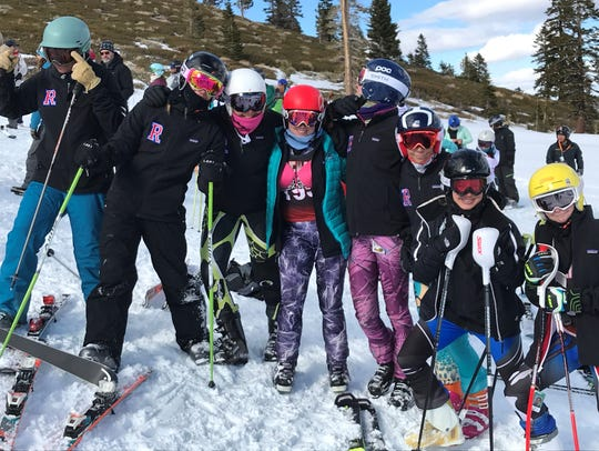 The Reno High girls ski team won the academic achievement