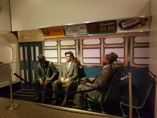 An exhibit at the Rosa Parks Museum in Montgomery,