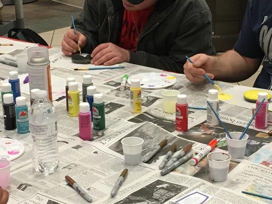 Ivy Tech Community College Evansville students paint