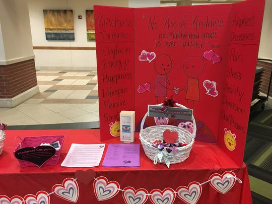 "To help remind people the importance of kindness, Ivy Tech Community College Evansville hosted its first-ever Kindness Campaign this week. Many students and staff wore pink heart-shaped ""Be Kind"" buttons, heart-shaped notes with positive messages decorated the halls and on Valentine's Day anyone could paint a rock to hide for someone else to find."